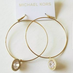 NWT Michael Kors Goldtone Hoop Earrings